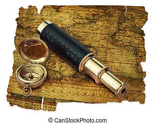 vendange, voyage, objets