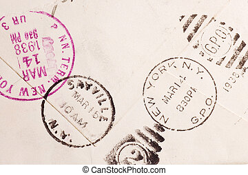 vendange, yellowed, enveloppe