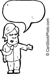 vendedor, caricatura