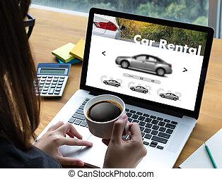 vendedor, transporte, automóvil, vehículos, coche, alquileres, alquiler