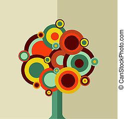 vendemmia, albero, colorito