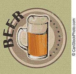 vendemmia, birra, disegno