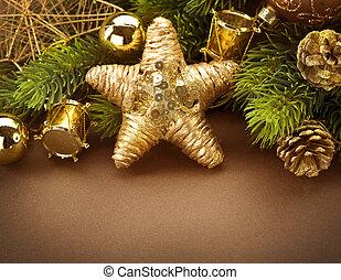 vendemmia, bordo, disegno, Natale