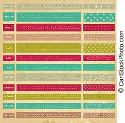 vendemmia, calendario, per, 2014, anno