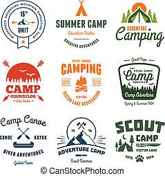 vendemmia, campeggiare, grafica
