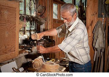 vendemmia, capannone, e, carpentiere