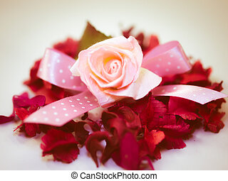 vendemmia, carta, rosa