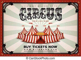 vendemmia, circo, fondo, manifesto