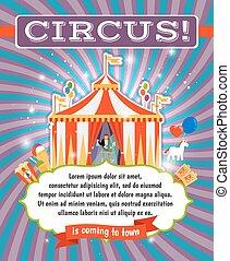 vendemmia, circo, sagoma, manifesto