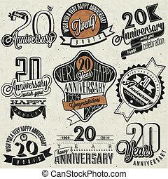 vendemmia, collection., anniversario, 20