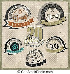 vendemmia, collezione, anniversario, 20