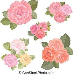 vendemmia, collezione, rose, mazzolini, tuo, design.
