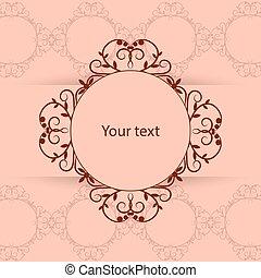 vendemmia, cornice, con, posto, per, tuo, text.