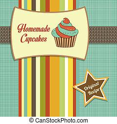 vendemmia, cupcakes, casalingo, manifesto