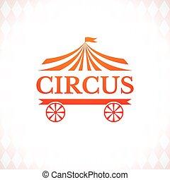 vendemmia, distintivo, vettore, circo