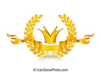 vendemmia, emblema, oro