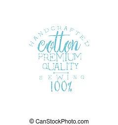 vendemmia, emblema, qualità, cotone
