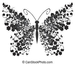 vendemmia, farfalla