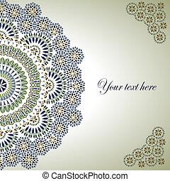 vendemmia, fondo, tradizionale, ottomano, motifs.