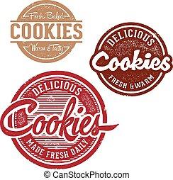 vendemmia, francobolli, biscotto