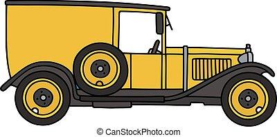 vendemmia, furgone, giallo