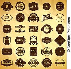 vendemmia, labels., grande, collezione, 2