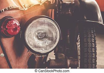 vendemmia, lampada, faro, automobile