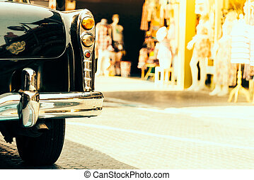 vendemmia, lampada, luce, automobile
