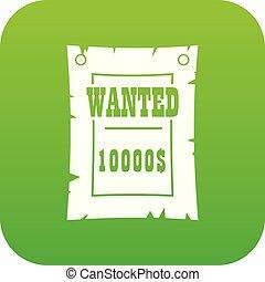 vendemmia, manifesto voluto, icona, digitale, verde