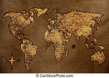 vendemmia, mappa, mondo