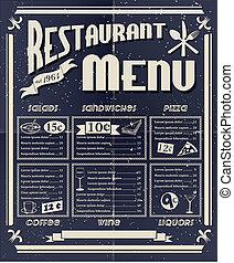 vendemmia, menu ristorante