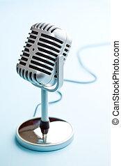 vendemmia, microfono, argento