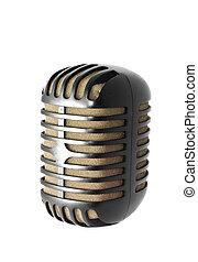 vendemmia, microfono, isolato