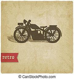 vendemmia, motocicletta, fondo