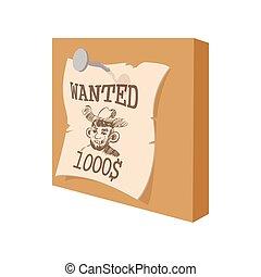 vendemmia, occidentale, manifesto voluto, cartone animato, icona