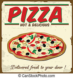vendemmia, pizza, manifesto