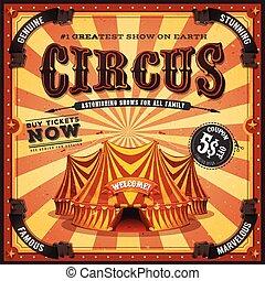 vendemmia, quadrato, circo, manifesto