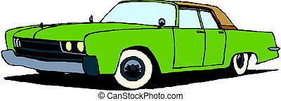 vendemmia, retro, automobile