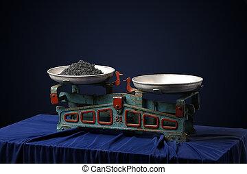 vendemmia, scale, con, uno, caviale nero
