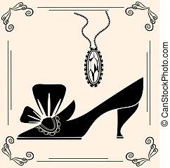 vendemmia, scarpa, dama