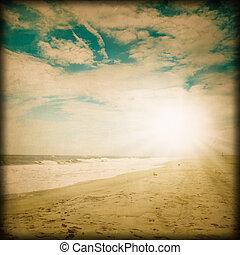 vendemmia, scena spiaggia