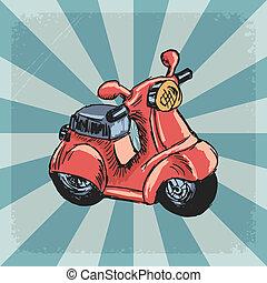 vendemmia,  scooter, fondo