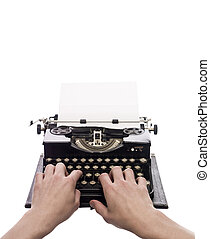 vendemmia, scrittura, macchina scrivere