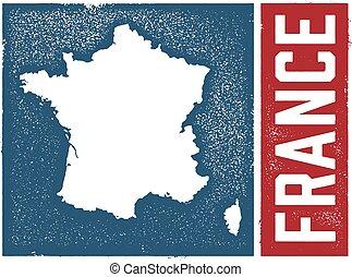 vendemmia, stile, francia, mappa