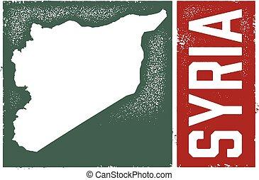 vendemmia, stile, siria, mappa