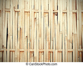 vendemmia, stile, tono, bambù, fondo