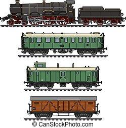vendemmia, treno vapore