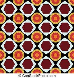 vendemmia, tribale, geometrico, seamless, colorare, modello
