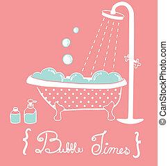 vendemmia, vasca bagno