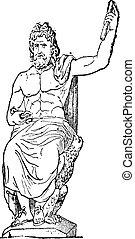 vendemmia, vaticano, giove, engraving., museo